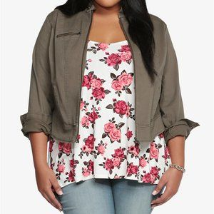 Torrid Twill Fitted Jacket